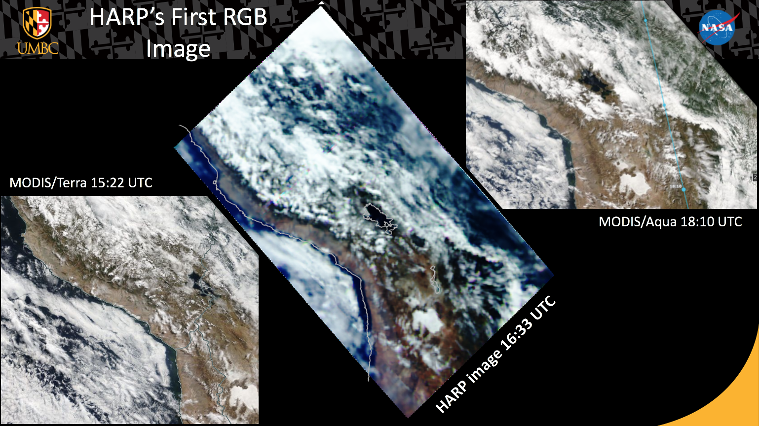 New HARP CubeSat Imagery over South America